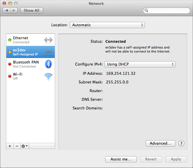 Self assigned ip address mac fix